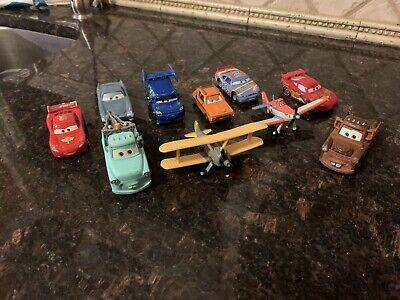 Disney Pixar Cars Mixed Die Cast & Plastic Car Lot~ 10 Pieces