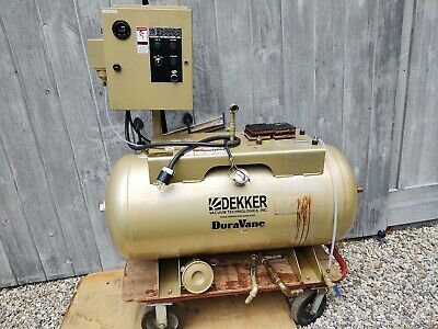 Used Dekker Air Compressor Receiver Tank- 60 Gallon Horizontal And Starter Panel