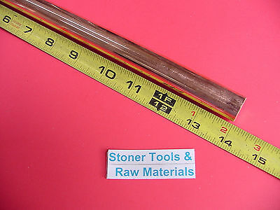 58 C110 Copper Round Rod 14 Long H04 Solid .625 Od Cu New Lathe Bar Stock