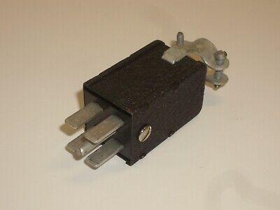 Vintage Cinch Jones Beau Molex P-2404-cctw Power Connector Plug 4 Pin Metal Hood
