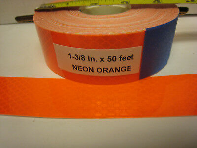 Neon Orange Reflective  Conspicuity Tape 1-38 X 50 Feet