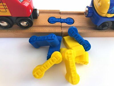 TrainLab Dog Bone Train Track Adapter Connector Wooden BRIO Thomas 6p CALIFORNIA