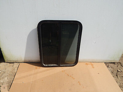 """RV Trailer Window, 24""""X30""""X1 1/4"""", With Screens, No Trim Rings, Tint, Opens #910"""