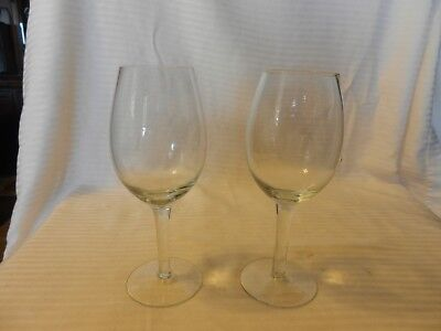 Pair of Clear Wine Glasses with Etched Initials ILY 7.5