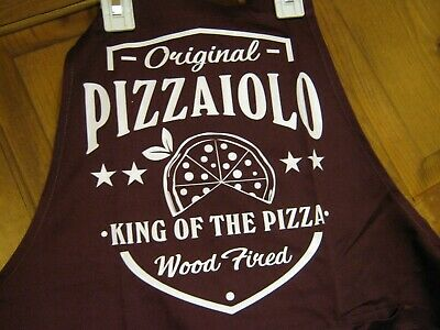 Original Pizzaiolo King Of The Pizza Wood Fired Restaurant Apron New