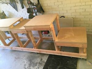 Solid Work Bench with Mitre and Table Saw Saddle Cronulla Sutherland Area Preview