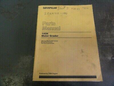 Caterpillar Cat 140h Motor Grader Parts Manual  Sebp2274-01