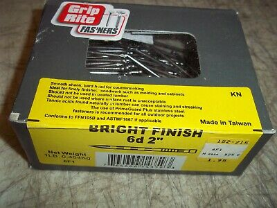 1 LB BOX GRIP RITE BRIGHT FINISH 6d 2