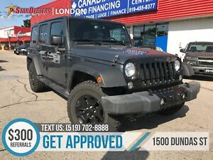 2017 Jeep Wrangler Unlimited Sport   2 TOPS   AWD