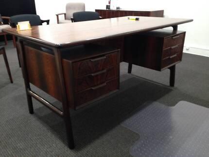 Retro world map table desks gumtree australia stirling area danish furntiture retro rosewood desk gumiabroncs Image collections