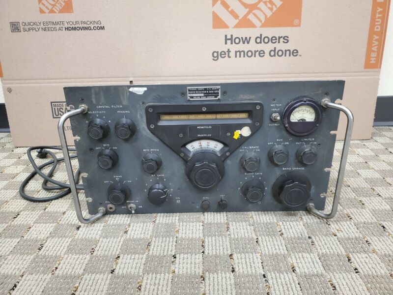 Vintage Collins Radio Receiver R-388/URR US Army Signal Corps / As-is 51J-3