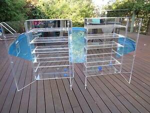 KARTELL THICK PERSPEX DISPLAY CABINETS Eltham Nillumbik Area Preview
