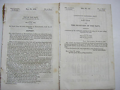 Lot 2 Government Doc Pamphlet Naval Navy Salary Captains Expenses Military