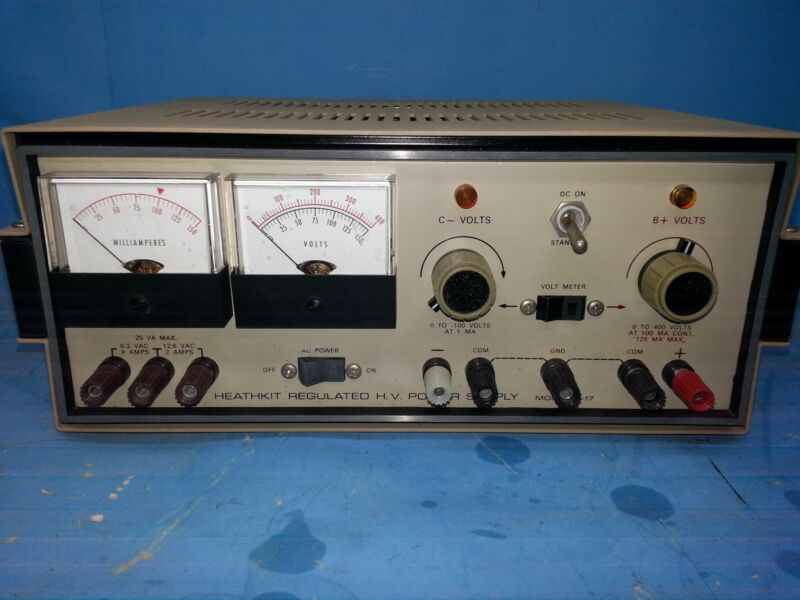 HEATHKIT IP-17 HIGH VOLTAGE POWER SUPPLY BENCH REFURBISHED CALIBRATED TESTED