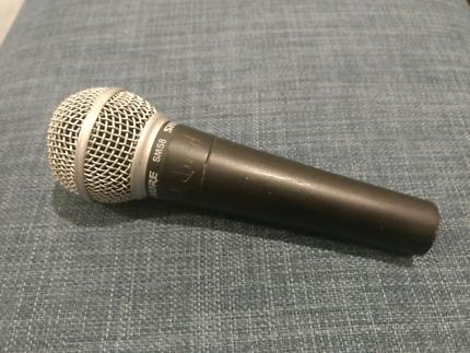 Shure SM58 dynamic XLR microphone