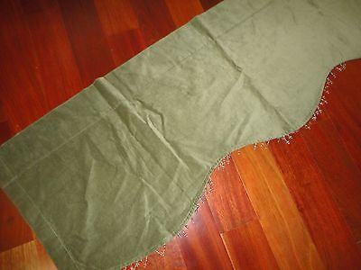 VICTORIA CLASSICS GROOVY RETRO 70'S STYLE SAGE GREEN BEADED VELVET VALANCE 54X15 Cottage Classic Sage Green