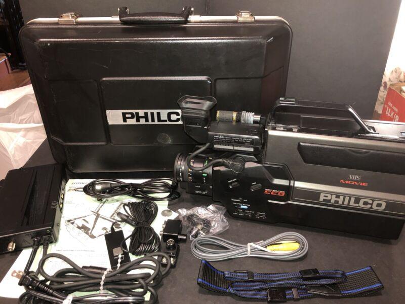 Vintage 1988 Philco VHS Movie Maker Recorder/Camcorder CCD High Shutter Tested!