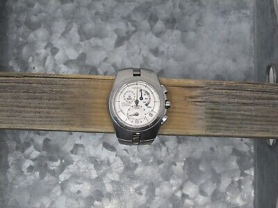 Men's Used Seiko Arctura 7L22 0AA0 Kinetic Chronograph Wristwatch 42mm