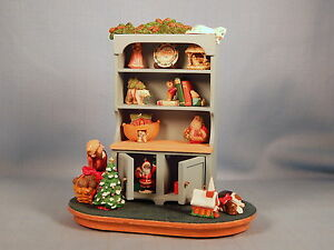 MRS CLAUS' CUPBOARD - 1994 HALLMARK EXPO DISPLAY PIECE - SIGNED BY ARTISTS