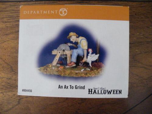 Dept. 56 Snow Village HALLOWEEN Figurine #804456 AN AX TO GRIND/New in Box