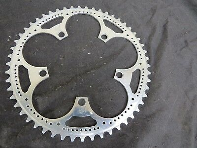 ZEUS NOS 53 TEETH CRANK DRILLED BCD 119 CHAINRING ROAD RACING VINTAGE BICYCLE for sale  Shipping to India