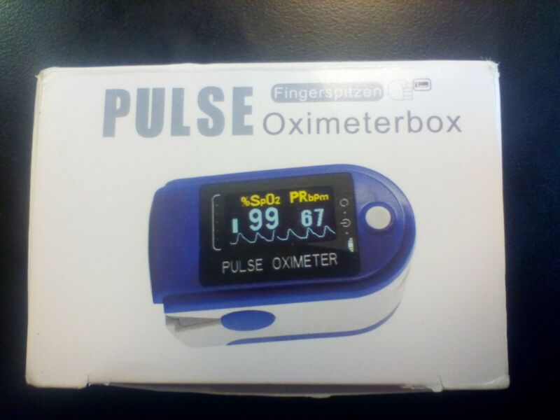 OLED Finger Pulse Oximeter Blood Oxygen Saturation Heart Rate SpO2 Monitor NEW