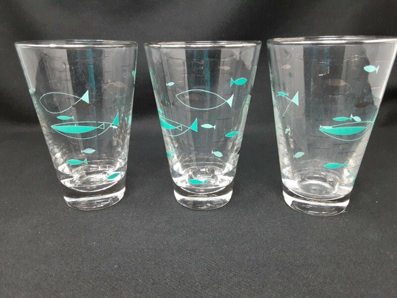 Mid-Century Libbey Mediterranean Highball Glasses (3)