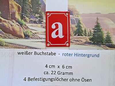 Haus-nr. (a b c d Emaille Haus Nr. Zusatz weißer Buchstabe roter Hintergr 4cm x 6cm ANr.10)