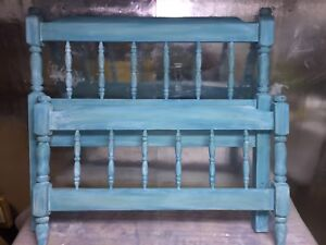 Twin bed-frame with rails