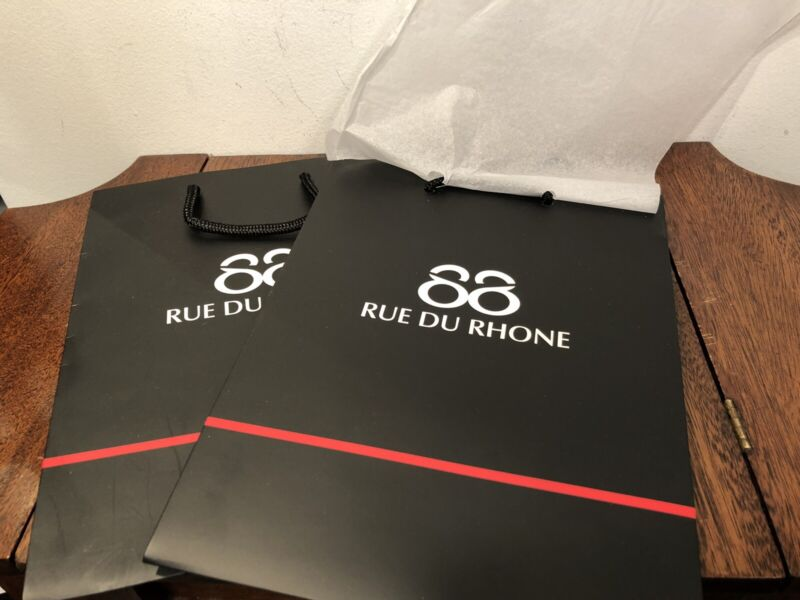 New! Lot Of 100 88 RUE DU RHONE Shopping Bags Black Sturdy 10x8x4.5