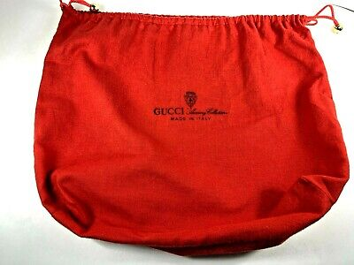"""Vintage Gucci Accessory Collection Red Dust Bag ~ 13"""" wide, 11"""" tall."""