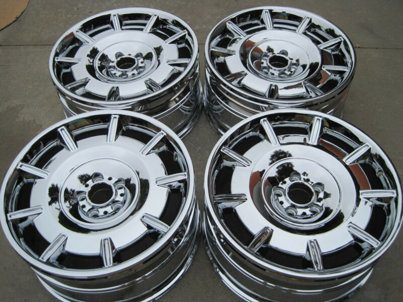 Rolls Royce Oem Factory Pax Wheels. New Chromed. Wheels Only. No Tires. No Caps.