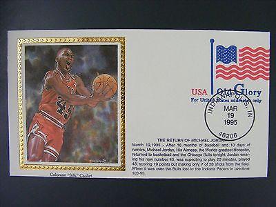 Bulls Silk - Michael Jordan Chicago Bulls 1995 The Return Colorano Silk Cachet Indiana Pacers