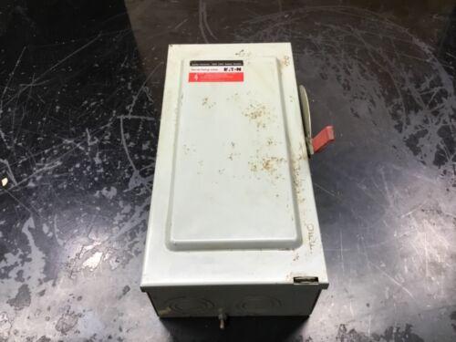 CUTLER HAMMER 100 AMP FUSIBLE DISCONNECT SWITCH DG323NGB 100A 240V #15B13PR3