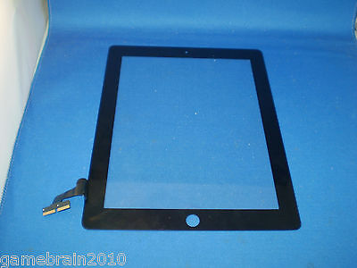 OEM Black iPad 2 Touch Screen Front Glass Digitizer! Defective (AS IS)!!
