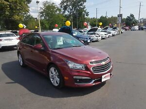 2015 CHEVROLET CRUZE 1LT- POWER GLASS SUNROOF, NAVIGATION SYSTEM