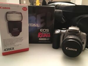 Canon EOS Digital Rebel Camera with Flash!!