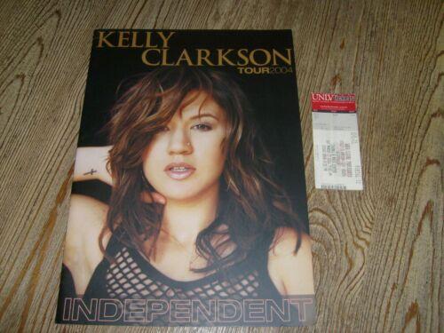 Kelly Clarkson Concert Program + Ticket Stub  2004  Independent Tour