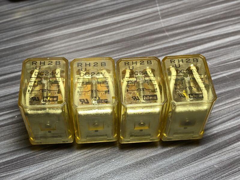 (Lot of 4) IDEC RH2B-U DC24V General Purpose Relay 24 VDC 10 Amp ICE CUBE 8 PIN