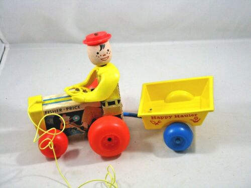 Fisher Price Vintage Happy Hauler Pull Toy #732