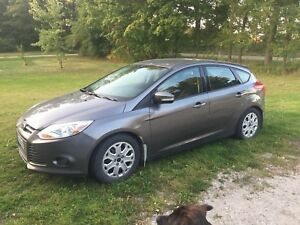 Ford Focus 2014 with snow tires