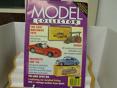 """MODEL COLLECTOR"" MAGAZINE(4/96), MATCHBOX, NOREV, SCANIA, RIO, SPOT-ON, EXCOND"