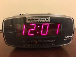 Hamilton Beach Red LED Display Dual Alarm Clock Radio -Easy Set Radio Tuning