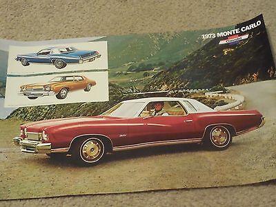 """1973 Chevrolet Monte Carlo Dealer Sales-Showroom Brochure-Poster 11""""x17"""""""
