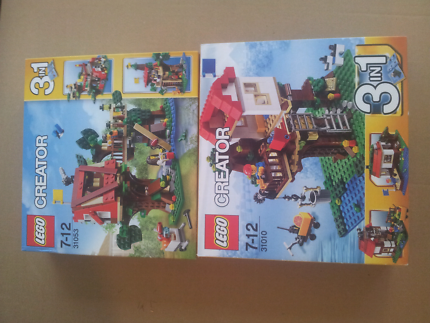Lego 5891 Creator 3 In 1 Apple Tree House Complete Instructions