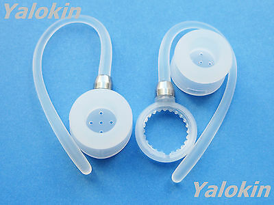 2 White Ear-hooks and Ear-buds for Motorola HX600 Boom Bluetooth Headset Devices for sale  Shipping to India