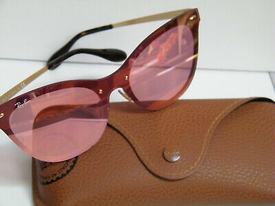 Ray Ban Sunglasses RB3580N Blaze Cat Eye 043/E4 Gold int Frame Pink Mirror (Ray Ban Retro Cat Eye Sunglasses)