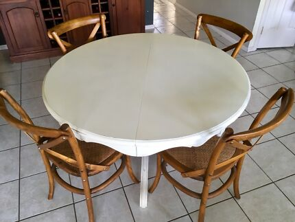 Vintage French dining table & classic chairs & wardrobe / closet set