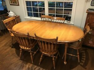 Used wooden kitchen table and chairs