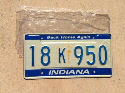 1988 Indiana License Plate 18 K 950 (NOS)